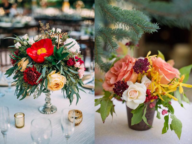 hoa cưới để bàn đẹp