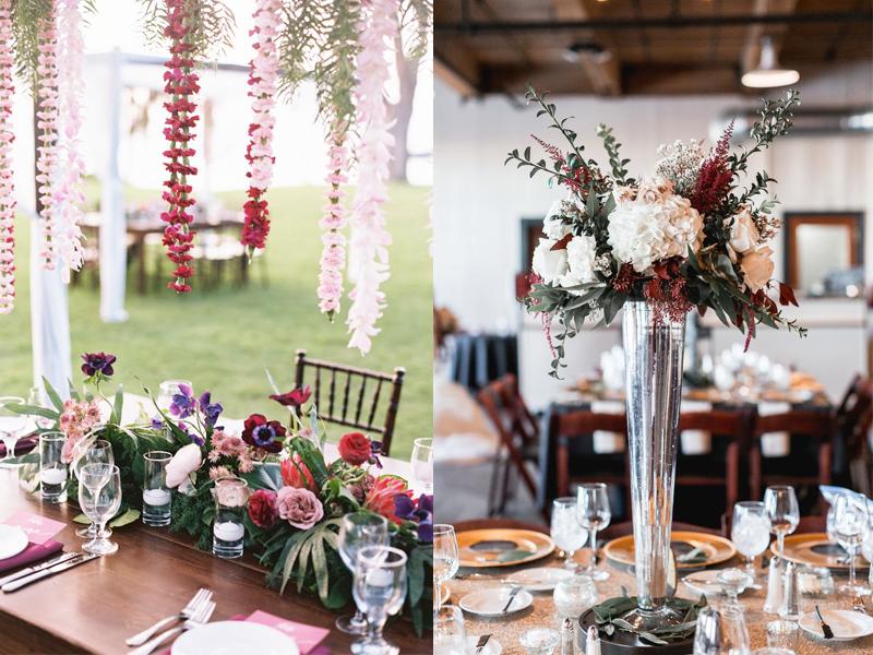 hoa cưới để bàn