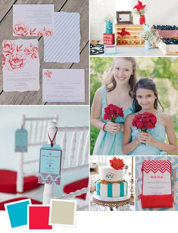 """15 phong cách phối màu """"chất"""" cho tiệc cưới - P1"""