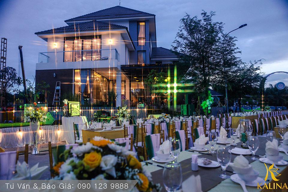 tổ chức tiệc cưới ngoài trời tại kalina