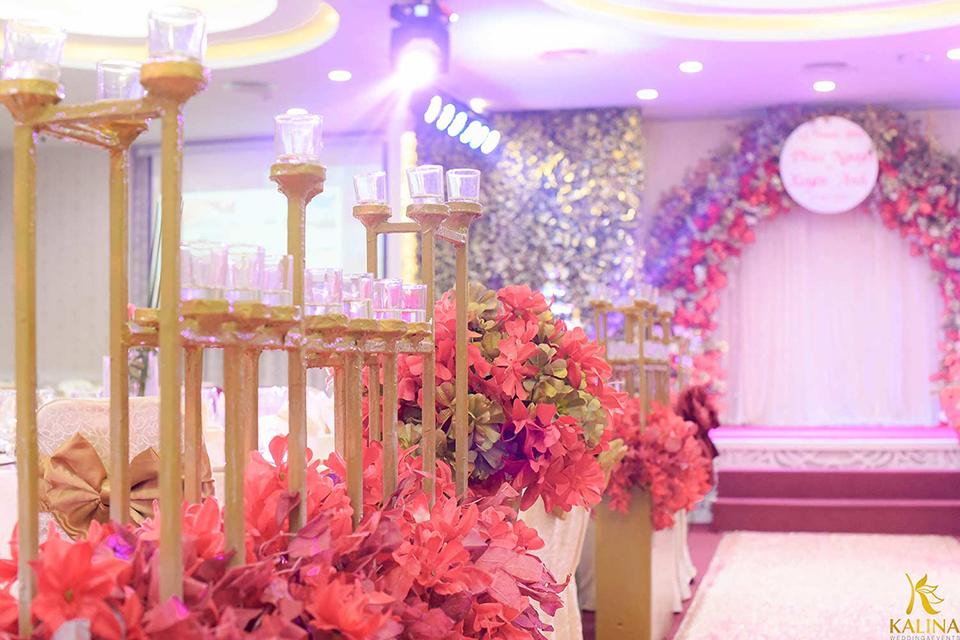 tiệc cưới tone màu tại kalina