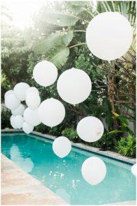 Trang trí bong bóng vừa đẹp vừa sang cho tiệc cưới
