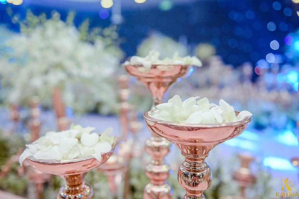 trang trí không gian tiệc cưới