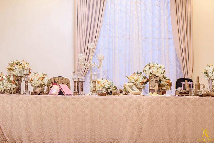 trang trí tiệc cưới rustic