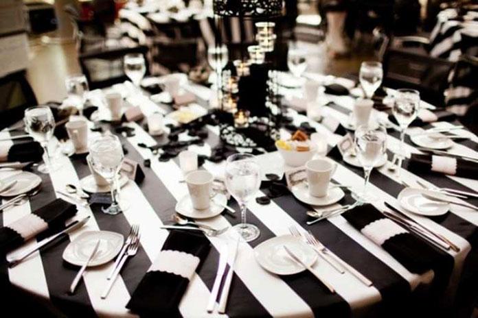 trang trí tiệc cưới b&w