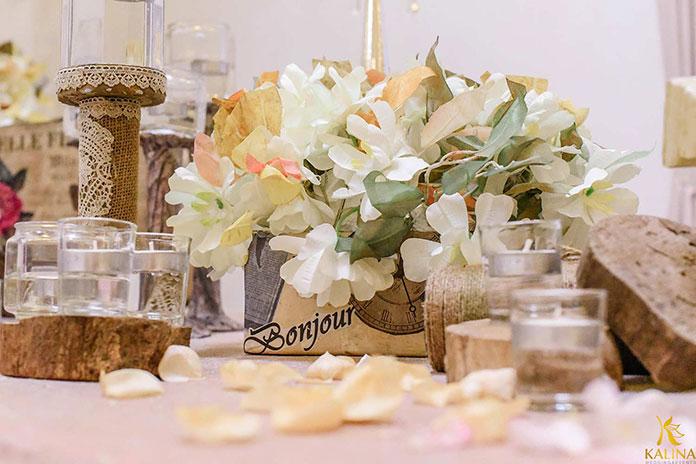 trang trí tiệc cưới rustic 2017